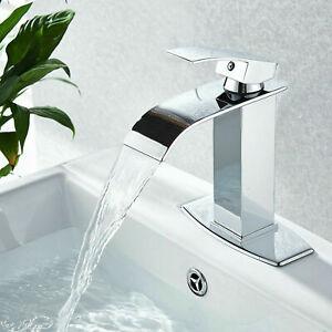Waterfall-Bathroom-Faucet-Single-Handle-Hole-Bath-Sink-Faucet-Chrome-Mixer-Tap