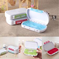 Tragbar Pillenbox mit 6 separatem Fach Medizin Tabletten Medikamentendispenser