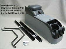 P71 Gray Center Console with Black Armrest & Mounting Kit Crown Victoria Police