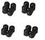 lot-de-Bouchon-Capuchon-de-valve-d-039-air-en-plastique-noir-pour-Auto-Moto-Velo-bmx miniature 1