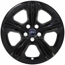 "4 BLACK 2013-2016 Ford Escape SE 17"" Wheel Skins Hub Caps Full Alloy Rim Covers"
