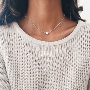 New-Women-Moon-Heart-Collar-Choker-Necklace-Crystal-Turquoise-Pendant-Jewelry