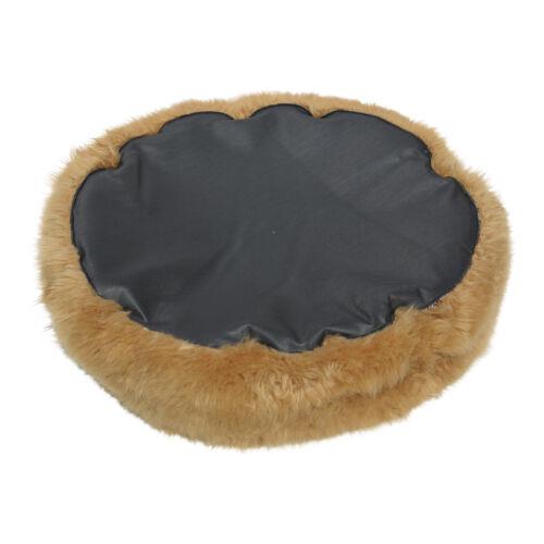 Lambskin Sheepskin Pet Bed Cappuccino Long Wool Assorted Sizes Dog Bed