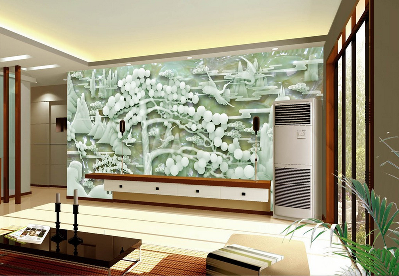 3D Jade Berglandschaft 799 Tapete Tapeten Mauer Foto Familie Tapete Wandgemälde