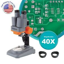 40x Stereo Binocular Microscope With Top Led For Pcb Soldering Mobile Phone Repair
