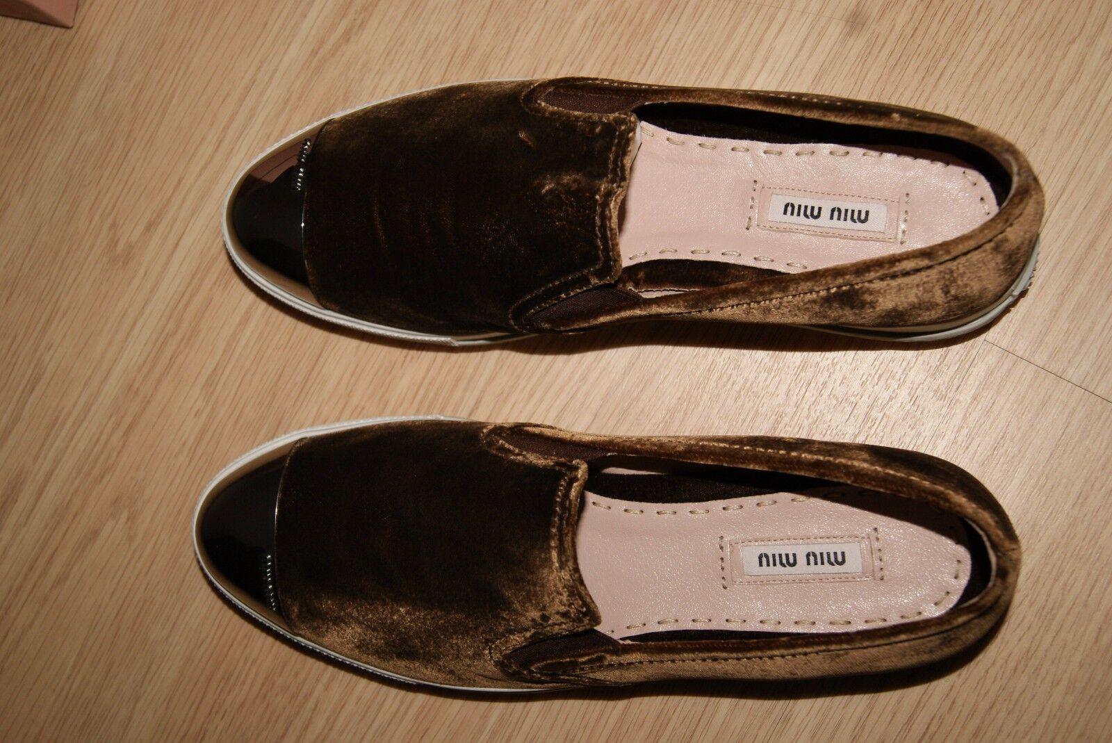 MIU MIU by PRADA Sneakers Gr. 39 39 39 Pumps braun NEU dfbabb