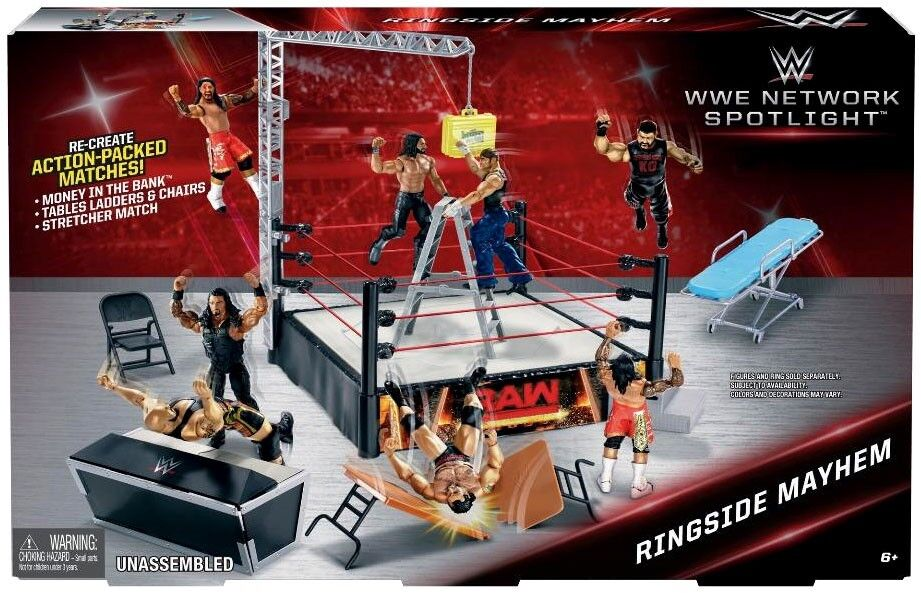 WWE Wrestling Network Spotlight Ringside Mayhem Exclusive Playset