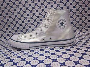 Scarpa Converse All Star Hi Silver Alte Junior Argento
