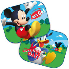 2x Disney Mickey Mouse & Donald Window Car Sun Shades Blinds Children Kids Baby