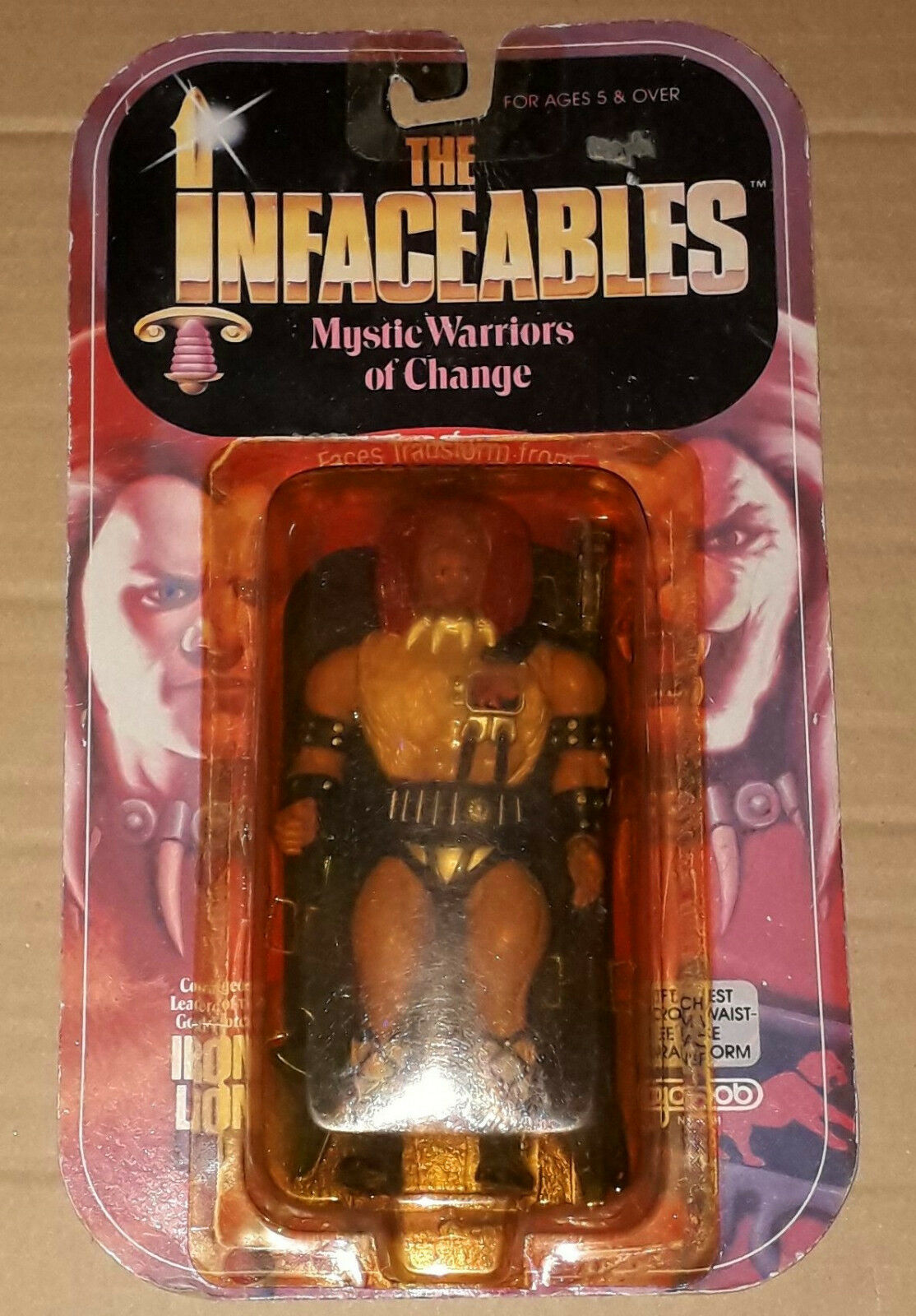 '80 KO motu Galoob The Infaceables IRON LION Knock Off Action Figure MOSC he-man