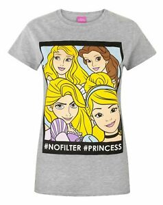 Disney-Princess-No-Filter-Women-039-s-T-Shirt