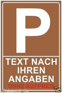 Parkplatz-Schild-Parkschild-Parkplatzschild-WUNSCHTEXT-INDIVIDUELL-P145