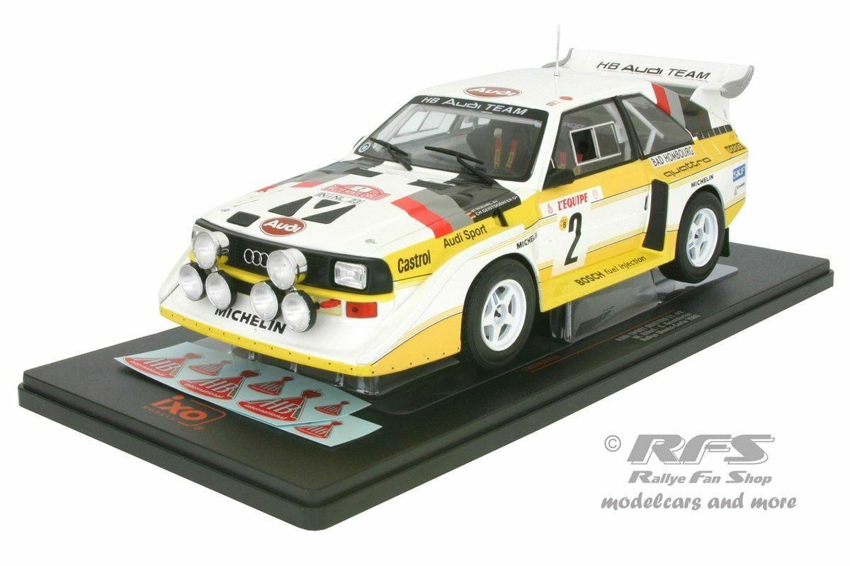 AUDI QUATTRO SPORT s1  e2 Walter Röhrl Rallye Monte voiturelo 1986 1 18 Ixo NEUF  être en grande demande