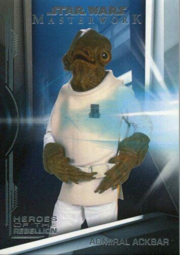 Star Wars Masterwork 2019 Heroes Of The Rebellion Chase Card HR-8 Admiral Ackbar
