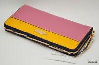 Tahari Patent Large Zip-around Wallet Purse Organizer Cluch Pink/yellow