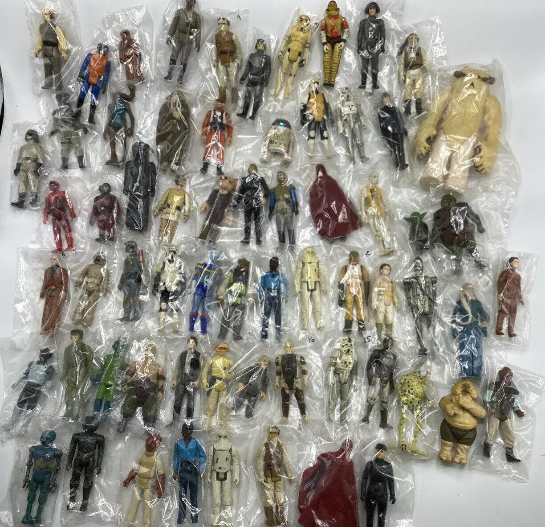 Vintage 1977-85 Star Wars Lot 65 Figures Excellent Condition