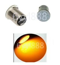 2X 12V LED 1157 BAY15D P21/5W 12Chips Car Brake Parking Light Bulb Yellow/Orange