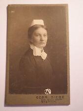 Stettin - Krankenschwester ? mit Haube - Portrait / CDV