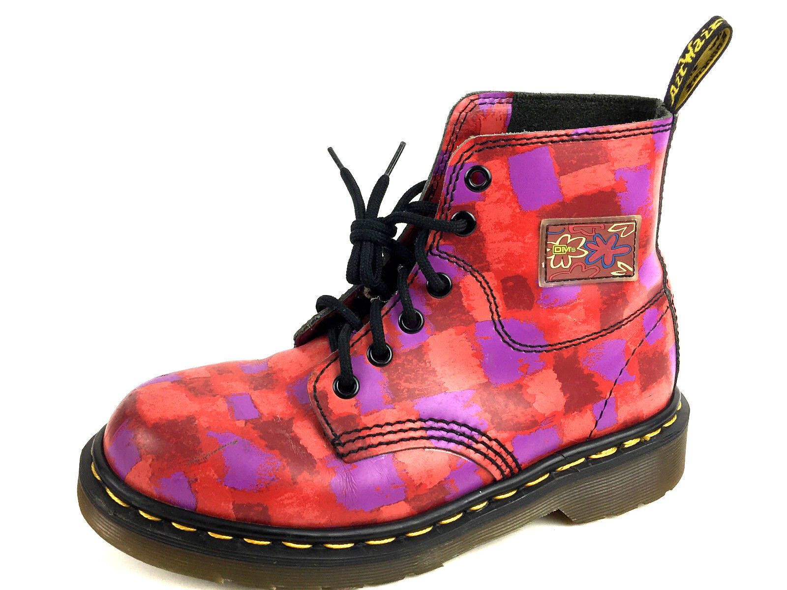 Dr Martens Made in England Multi Colour Boots Size Women's US.5 UK.3 EU.35-36