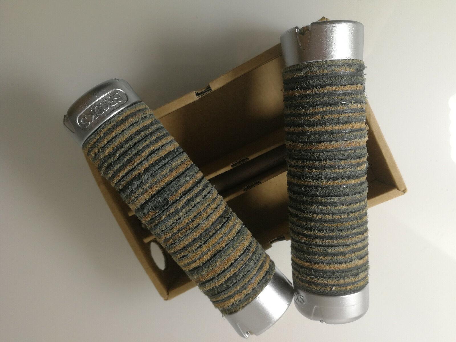 Brooks pinzamientos grips plump Leather 80-130mm mango cuero negro Top confort nuevo