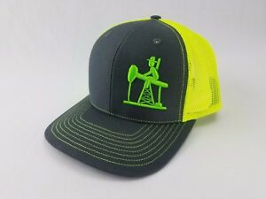 3D OIL FIELD LIFE HAT CAP SNAPBACK CURVED BILL trucker hat ... db86d17137f