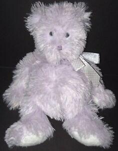 """Boyds Purple Teddy Bear Cuddle Fluff Plush Stuffed Animal 11"""" Lavender Gumdrop"""