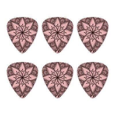Love and Pretty Flowers Novelty Guitar Picks Medium Gauge Set of 6