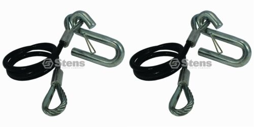 """2 Pack Stens 756-102 Trailer Safety Cable with S Hook 36/"""" 7,000 lb Capacity"""