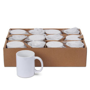 12 Stück bedruckbare Kaffeetassen Tasse Becher für Sublimation AAA-Grade
