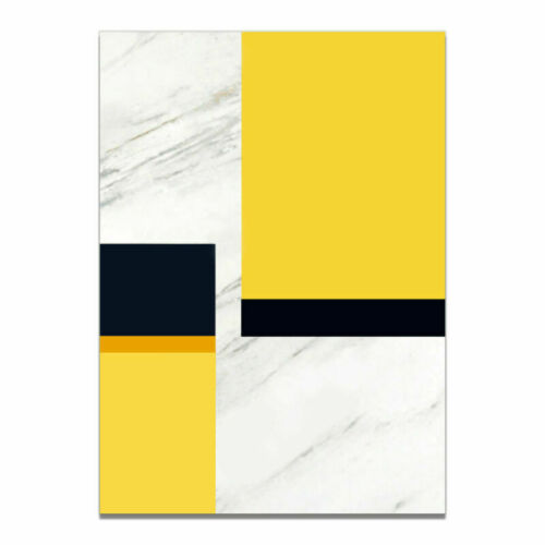 Black and Yellow Geometric Print Canvas Poster Abstract Home Wall  Art Decor