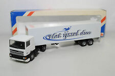 LION CAR LION TOYS DAF 95 TRUCK WITH TRAILER HET IJSSEL DUO NEAR MINT BOXED RARE