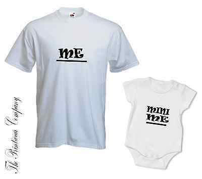 Me & Mini Me Matching Daddy Dad Son Daughter T-shirt Tee Babygrow Baby Grow Gift Gut FüR Antipyretika Und Hals-Schnuller