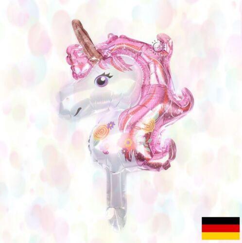 BALLON EINHORN Folienballon Unicorn Party Kindergeburtstag JGA Helium Sofort DE