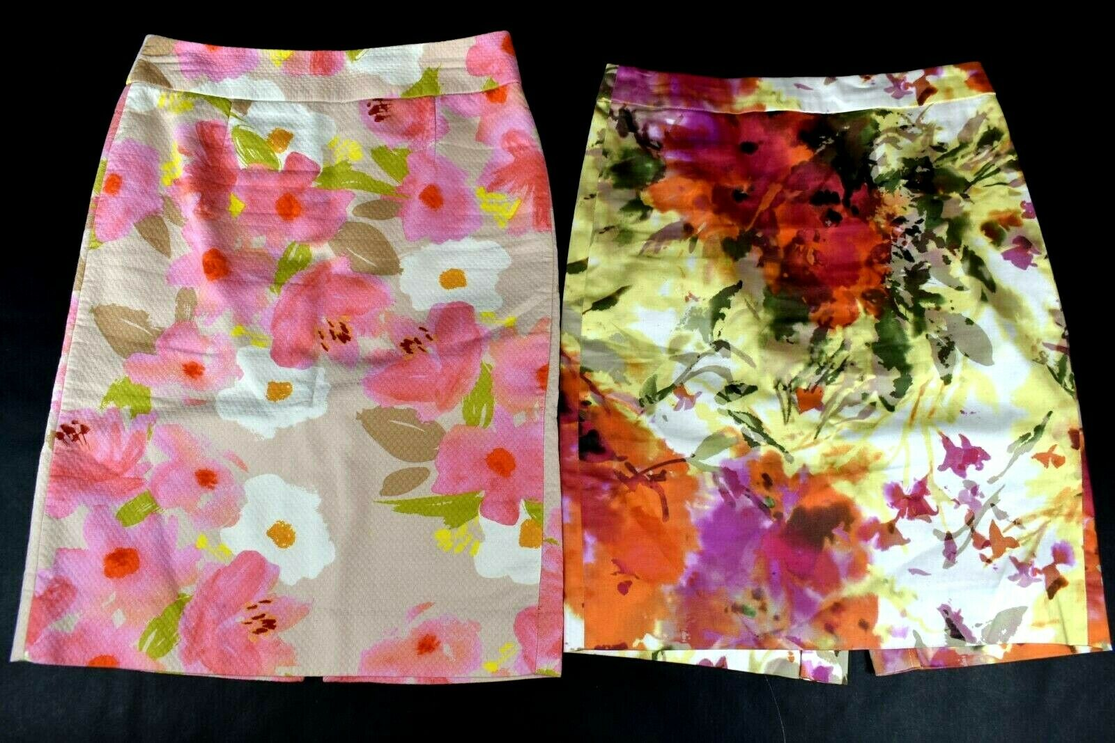 J Crew Size 2 The Pencil Skirt colorful Floral Skirts Lot of 2