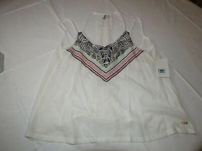 Rip Curl HANALEI BAY TOP Womens Off Sleeve Shirts Tops GSHSC7 White Floral