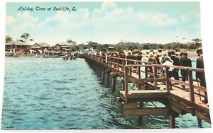 c1910-REDCLIFFE-HOLIDAY-TIME-AT-REDCLIFFE-COLOUR-POSTCARD-RETRAC-SERIES