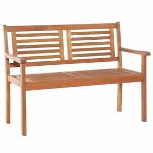 Vidaxl Solid Eucalyptus Wood 2 Seater Garden Bench 120cm Outdoor Furniture 8718475712268 Ebay