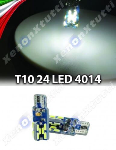 2 x lampade LED T10 W5W 24 SMD BLANCO T15 W16W CANBUS