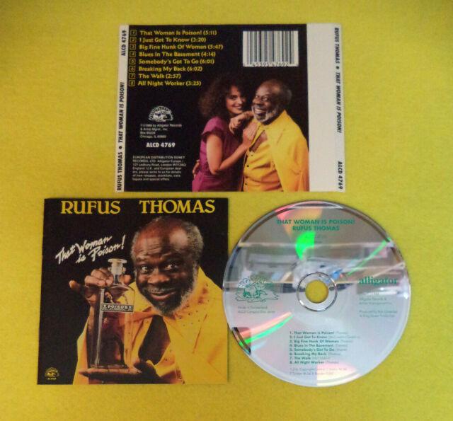 CD RUFUS THOMAS That Woman Is Poison 1988 Europe ALLIGATOR REC no lp dvd (CS58)