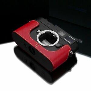 GARIZ  BL-LCM9R (RED) Black Label leather case Leica M8, M9, M MONO CCD (10760)