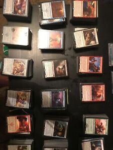 155-Magic-The-Gathering-starter-set-100-Card-Lot-50-Lands-Rares