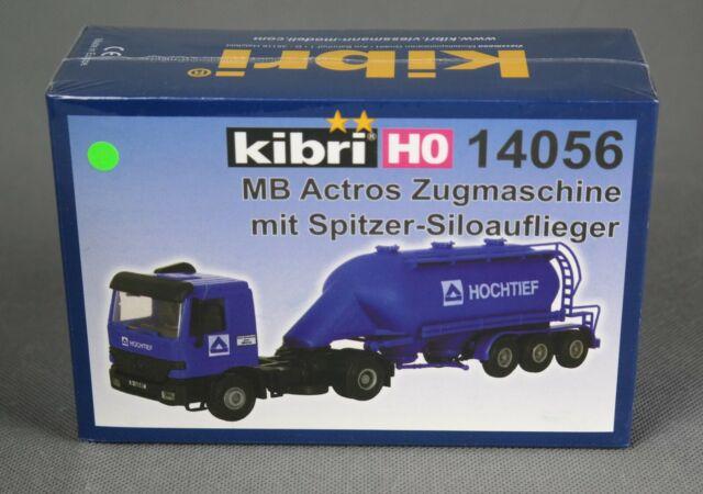 KIBRI 14056 [Spur H0, Bausatz] MB Actros Zugmaschine mit Spitzer-Siloauflieger