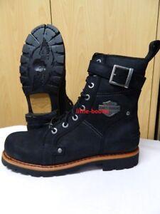 Details zu Harley Davidson Boots Stiefel Herren schwarz Leder Gr. 41 46 93489 Wickson