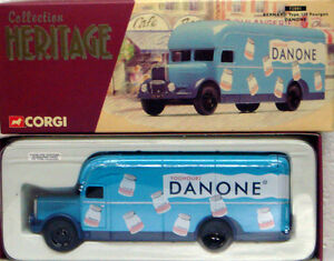 Corgi-72001-1-50-patrimonio-frances-Bernard-tipo-110-FOURGON-Danone-yogur