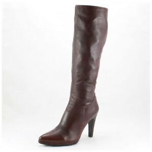 Details zu 5th Avenue Stiefel Gr. 39 Lederstiefel braun kniehoch (#3263)