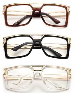 98fb654d12cb Run DMC Clear Lens Eye Glasses HiP Hop Rapper Retro Large Oversized ...