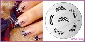 Konad-Nail-Art-Decal-Image-Plate-M-44-French-Manicure-FANCY-TIP-wine-File