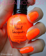 Kleancolor NEON ORANGE Nail Polish Lacquer Full Sz