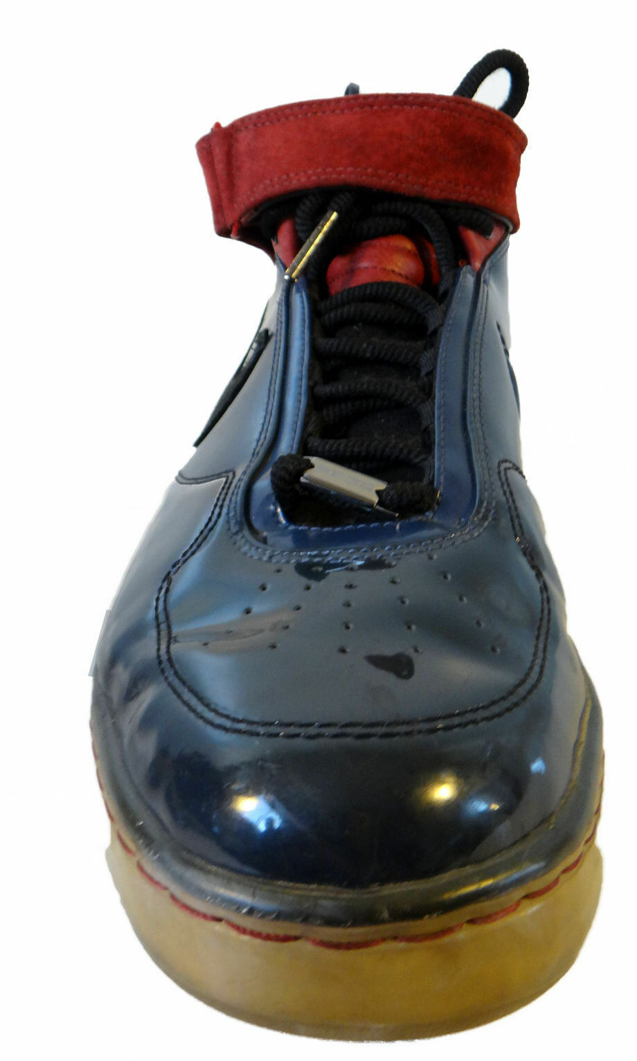 NIKE Air force 25 eur AF25 us 12 eur 25 46 patent shiny leather red blue b552f9