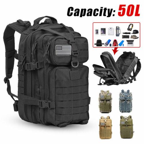 50L Tactical Backpack 3P Softback Outdoor Waterproof Backpack Military Hiking